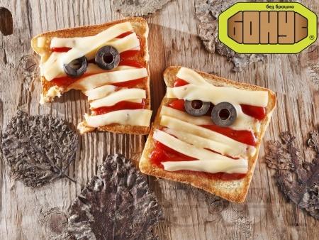 Уплашени сандвичи за Хелоуин  - снимка на рецептата